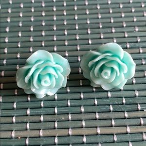 Colored Roses Stud Earrings Multiple Colors